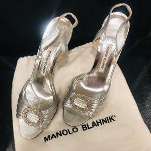 Manolo Blahnik Sedaraby Dorsey Slingback Heel Shoe